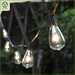 10 Count ST38 Bulb Solar String Light Outdoor Patio String Lights